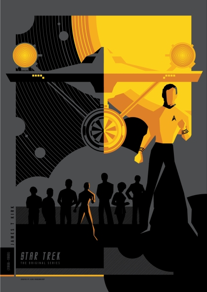 star trek retro poster kirk original